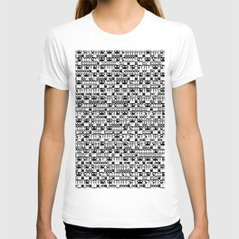 Black and white geometric shapes T-shirt