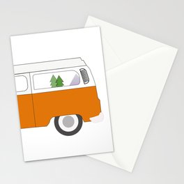 Orange Campervan Stationery Cards