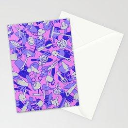 Gardening Botanist Garden Camo Pattern PINK Stationery Cards