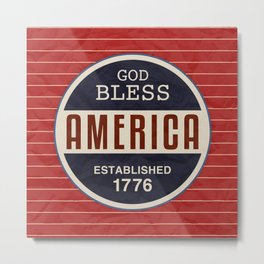 God Bless America Metal Print