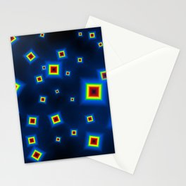 Pattern of disorganized multicolored paintings Stationery Cards