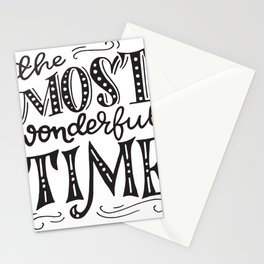 The most wonderful time retro typography Stationery Cards