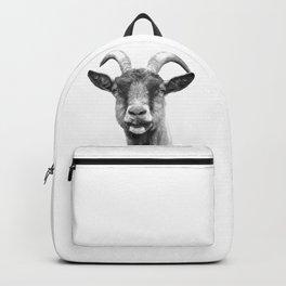 Black and White Goat Backpack