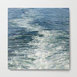 Ocean Wake From Back of Ship Metal Print