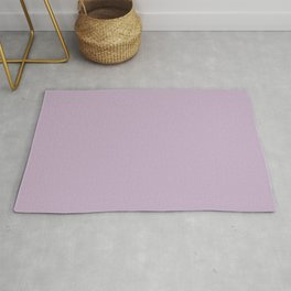 WISTERIA PURPLE pastel solid color Rug