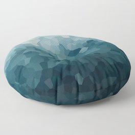 Ice Blue Mountains Moon Love Floor Pillow