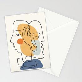 Abstract Faces 33 Stationery Cards