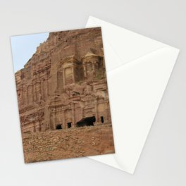 Temple facades Petra Jordan Stationery Cards