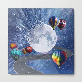 Moon dispersion  Metal Print