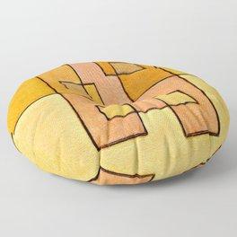 Protoglifo 04 'yellow hugging pink' Floor Pillow
