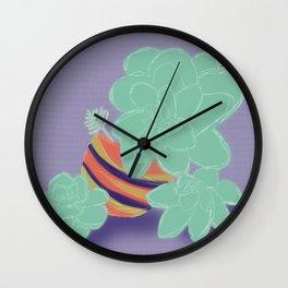 Soft Succulents Wall Clock