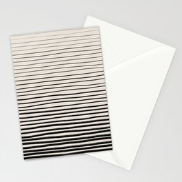 Black Horizontal Lines Stationery Cards
