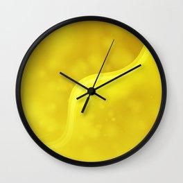 Waves abstract art Wall Clock