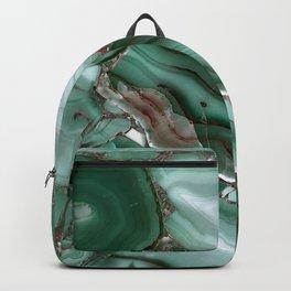 Luxury Malachite Marble Agate  Backpack