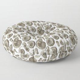 Ernst Haeckel Ammonitida Ammonite Floor Pillow