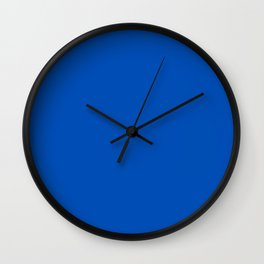 Indigo blue  Wall Clock