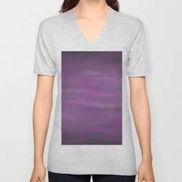 Abstract Watercolor Blend 12 Black, Gray and Purple Graphic Design Unisex V-Neck