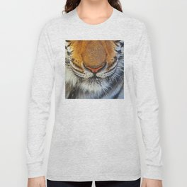 Real Tiger's Nose! Up Close & Very Personal Macro Long Sleeve T-shirt