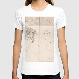 Johann Bayer - Uranometria / Measuring the Heavens (1661) - 42 Corvus / The Crow T-shirt