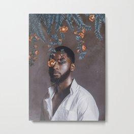 FernMan - Digital Collage Metal Print