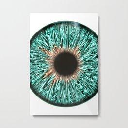 The Blue-Green Iris Metal Print