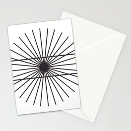 Optical illusion gift math geometry school Stationery Cards