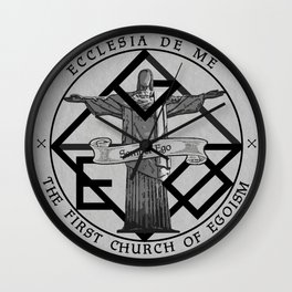 Lies and Hatred - Church of Egoism Wall Clock