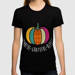 Thankful Grateful Blessed Pumpkin Shirt, Thanksgiving GIft T-shirt