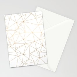 Geometric Gold Minimalist Design Stationery Cards