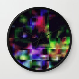 glitch 128 Wall Clock