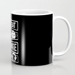 Eat Sleep Karate Repeat - Martial Arts Defence Coffee Mug