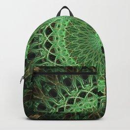 Green glowing mandala Backpack