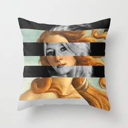 Botticelli's Venus & Brigitte Bardot Throw Pillow