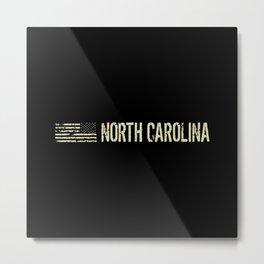 Black Flag: North Carolina Metal Print
