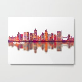 Newark New Jersey Skyline Metal Print