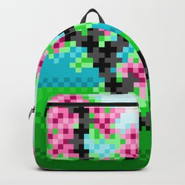 Pixel Art Bonsai Tree Backpack