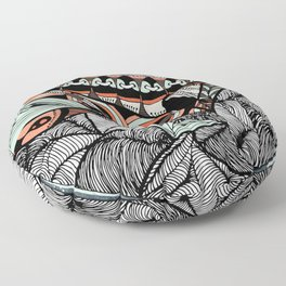 Mending world Floor Pillow