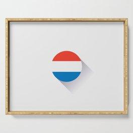Minimal Netherlands Flag Serving Tray