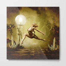 Dancing in the night Metal Print