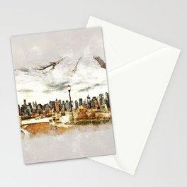 New York City - mixed media Stationery Cards