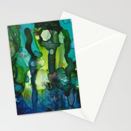 Bloom In Cool Blue Green Stationery Cards