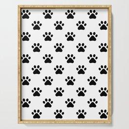 Paw print animal lover pattern Serving Tray
