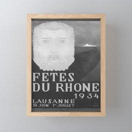 retro old Fetes du Rhone poster Framed Mini Art Print