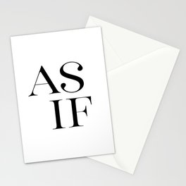 As If, Motivational Print, Home Decor, Motivational Print, Art Stationery Cards