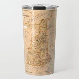 Map of New Hampshire (1890) Travel Mug