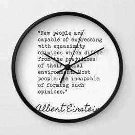 Albert Einstein great quote 3 Wall Clock