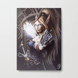Elven Summoner Metal Print