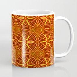 red and gold kaleidoscope Coffee Mug
