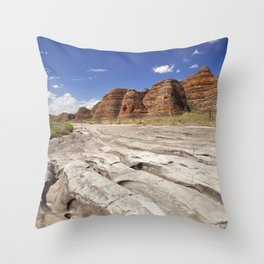 Dry riverbed in Purnululu National Park, Western Australia Throw Pillow