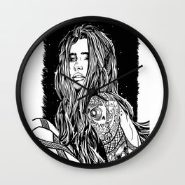 Tattoo Lady Wall Clock